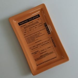 Trinket tray decor parking ticket uo